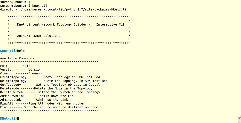 4  Command Line Interface — KNet 1 documentation